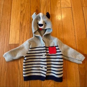 Baby Gap Hooded Striped Cardigan size 6-12 months